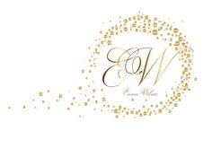 Photography logo, Custom logo design, gold logo, round circle dots photography logo, logo + black and white watermarks, moon stars logo gold
