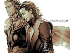 Loki and Thor (Marvel) by creevie.deviantart.com
