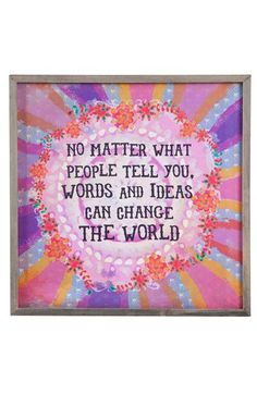 NATURAL+LIFE+'Change+the+World+-+Street+Market'+Framed+Wooden+Wall+Art+available+at+#Nordstrom