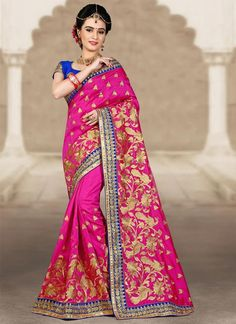 Shop online from the largest collection of indian saree. Buy this art silk embroidered and zari work designer traditional saree for wedding.