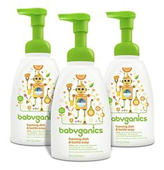 Babyganics Foaming Dish and Bottle Soap, 16oz Pump Bottle (Pack of 3)   MyPointSaver