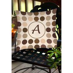 Thumbprintz Dots Monogram Neutral Decorative Pillows, Beige