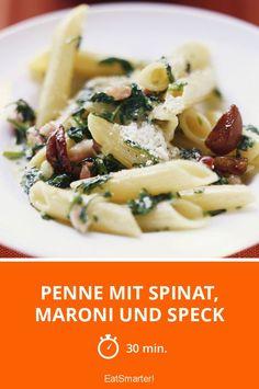 Penne mit Spinat, Maroni und Speck - smarter - Zeit: 30 Min. | eatsmarter.de