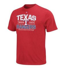 Texas Rangers Majestic Authentic Experience T-Shirt