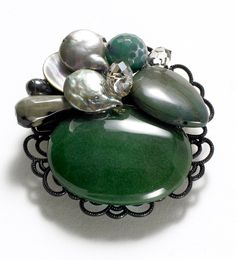 Green Jasper Palette Pin, Pins, Jewelry - The Museum Shop of The Art Institute of Chicago