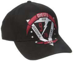 Diesel Men's Celange Hat, Black, 1