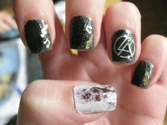 Linkin Park Nail Art
