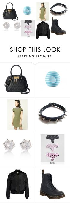 """shopping day outfit"" by staleysadie on Polyvore featuring Apt. 9, Eos, Forever 21, WithChic, River Island, ASOS, Sans Souci and Dr. Martens"