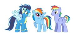 Rainbow,soarin and her dad