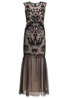 Elegant Downton Abbey Frock and Frill Cocktail dress / Party dress black