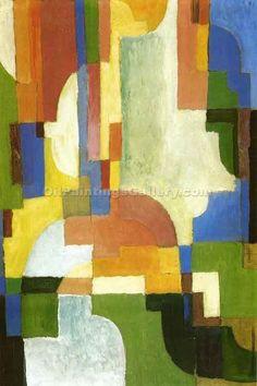 Farbige Formen by August Macke