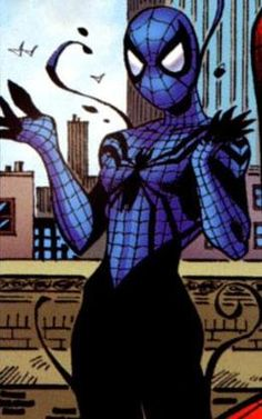 "April Parker Spider girl from Spectacular Spider girl aka May ""Mayday"" Parker the daughter of Spider-Man Comic Book Characters, Marvel Characters, Comic Books Art, Comic Art, Marvel Venom, Marvel Vs, Marvel Heroes, Spider Girl, Spider Women"