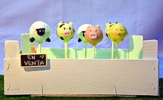 Cake pops animales de granja - Animal farm cake pops