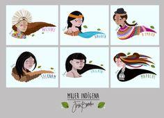 Jezu Bunster on Talenthouse Creative Skills, Creative Activities, Vintage Cartoons, Woman Illustration, Cool Artwork, Illustrations, Diy Art, South America, Folk Art