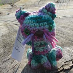 Kitty Inkie Multi Colors  Kitty Inkie Didn't I say it was a very long road trip! Next up a Kitty Inkie. The ears were easy. The tail took a few tries to get the sizing where I wanted it. I was feeling