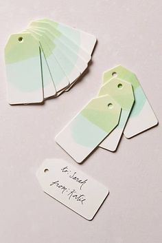 Watercolor Gift Tags at Celadon!