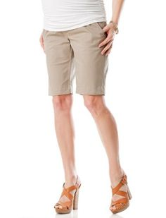A Pea in the Pod: Secret Fit Belly(tm) Cuffed Maternity Shorts $69.50