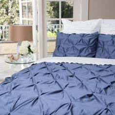 @Amy Brown I just came across this beautiful duvet this evening.  Great site for designer bedding | Blue Duvet Cover Set - The Valencia Slate Blue
