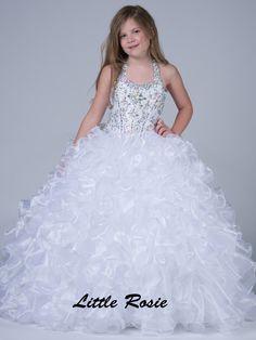 Little Rosie Scoop Neckline Pageant Dress LR2040|PageantDesigns.com