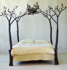 Forest bed with birds nest. For some strange reason I am very drawn to this.