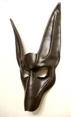Black Jackal Leather Mask