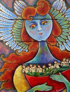 """""""Angel with Mermaids"""" by Dee Sprague"""