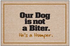 Funny Welcome Mats | Humping Dog Doormat | Dog Welcome Mat | Funny Dog Doormat