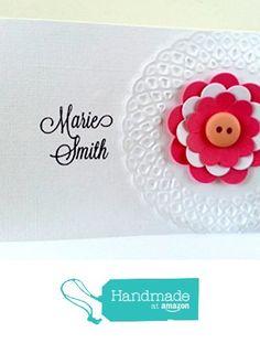 Embossed & Cut out flower Note card Set from Mis Creaciones by Patricia Chalas http://www.amazon.com/dp/B01675I2QA/ref=hnd_sw_r_pi_dp_COxowb0TSXQQT #handmadeatamazon