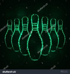 Map illustration icon gradient color lights silhouette on dark bowling pins illustration icon spring green color lights silhouette on dark background glowing lines and points bowling pin gumiabroncs Choice Image