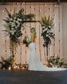 floral wedding arch with pampas plumes and festoon lights # Weddings arch Top 20 Bohemian Pampas Grass Wedding Arches Wedding Stage, Elope Wedding, Wedding Themes, Wedding Colors, Dream Wedding, Wedding Arches, Elopement Wedding, Wedding Ideas, Wedding Backdrops