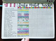 """2,006 Likes, 69 Comments - Micah (@my_blue_sky_design) on Instagram: """"Daily Habit Tracker Spread - February 2017 Is there anything better than this thing getting filled…"""""""