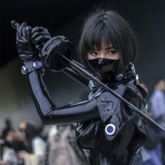 slickcrust — Latex_VV in Gantz cosplay, March 2018 Latex Cosplay, Anime Cosplay, Cosplay Girls, Latex Costumes, Katana Girl, Armadura Cosplay, Cyberpunk Aesthetic, Ninja Girl, Cyberpunk Character