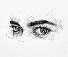 La mirada de Selena . #dibujo #retrato #draw #dibujando #drawing #pluma #pen #garabato #boligrafo #boli #art #scketch #andresem #face #eye #look #eyes #ojo #ojos #mirada #ilustracion #ilustration