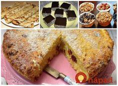 Nájdete doma pár hrstí ovsených vločiek? Vyskúšajte 17 výborných dezertov, ktoré prirpravíte rýchlo a nepriberiete z nich! Banana Bread, French Toast, Food And Drink, Yummy Food, Treats, Breakfast, Cake, Sweet, Desserts