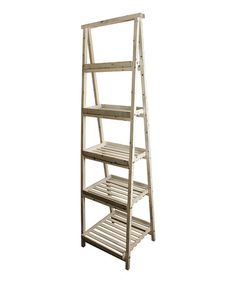 Loving this White Wash Gradient Ladder Shelves by Wald Imports $104.99 19'' W x 66'' H x 19'' D Wood Imported