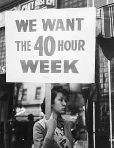 "October 24, 1940:  The Fair Labor Standards Act of 1938's mandate of a 40-hour work week with time-and-a half overtime pay for hours of work beyond that goes into effect.  The legislation was passed to eliminate ""labor conditions detrimental to the maintenance of the minimum standard of living necessary for health, efficiency, and the general well-being of workers."""