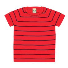 Rood-navy gestreept T-shirt