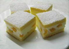 Eastern European Recipes, Torte Cake, Hungarian Recipes, Sponge Cake, Cheesecake, Dessert Recipes, Food And Drink, Peach, Sweets