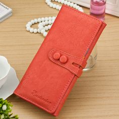 Fashion Wallet Fresh PU Leather Candy Women Wallet Bag Luxury Mobile Phone Bags Coin Purse Girls Wallet Female Money Card Holder #shoes, #jewelry, #women, #men, #hats, #watches, #belts