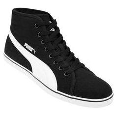 Zapatillas Puma Elsu V2 Mid CV - Negro+Blanco