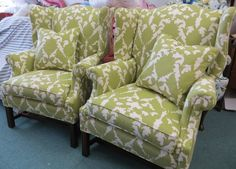Silhouette Duralee Fabric on Classic Wing Back by WydevenDesigns, $1285.00