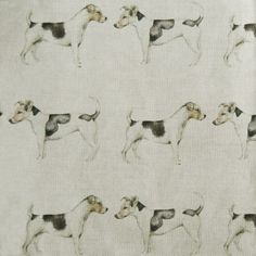 Eddie and Teddie from the Woof collection! Wire Fox Terrier, Fox Terriers, Fabulous Fox, Crafts Beautiful, Dog Pattern, Scottie, Vintage Pictures, Soft Furnishings, Fabric Design