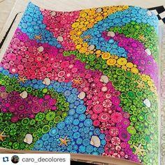 Colorido super lindo by  @caro_decolores ・#oceanoperdido  #desenhoscolorir  #lostocean #johannabasford