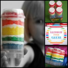 Rainbow Push Cakes by Simply Creative Printables...love!