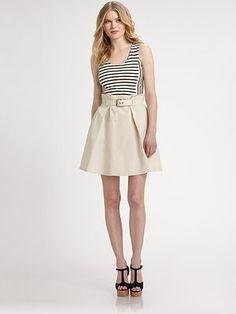 10 Crosby Derek Lam Striped Top/Tulip-Skirt Dress