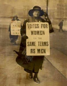 A photo of a suffragette holding a poster portraying the message that women and men should have the same equality. Feminist Quotes, Feminist Art, Suffrage Movement, Riot Grrrl, Power To The People, Equal Rights, Women's Rights, Patriarchy, Women In History