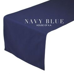 14 x 108 inches Navy Blue Table Runner   Navy Blue Table Runners for Weddings, Banquet Events, Hotels, and Restaurants