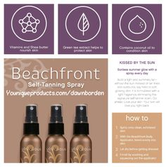 Younique Beachfront Tanning Spray #selftanning #spraytan #younique #sunkissed