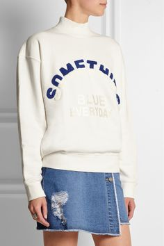 Steve J & Yoni P | Embroidered cotton-jersey sweatshirt | NET-A-PORTER.COM