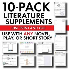 Literature Supplement Bundle – Fun Stuff, Use w/ANY Novel,